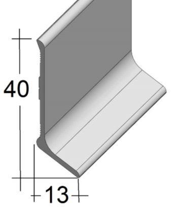 Aluminium Sockelleiste (40/13)