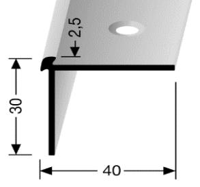 Treppenkantenprofil (870) versenkt gebohrt