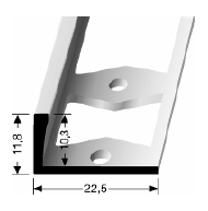 Doppel-K Profil (304G) gestanzt