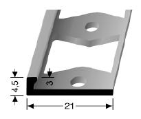 Doppel-K Profil (301G) gestanzt