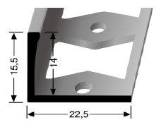 Doppel-K Profil (311G) gestanzt