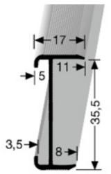 Treppenkantenprofil (844) versenkt gebohrt