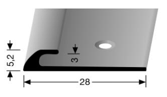 Einfassprofil (361/3) versenkt gebohrt