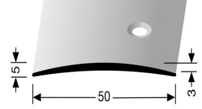 Übergangsprofil (463S) seitlich versenkt gebohrt