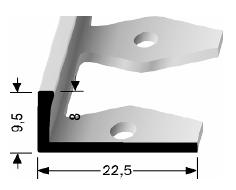 Einfach biegbares Abschlussprofil (303)