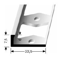 Doppel-K Profil (307G) gestanzt