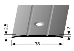 Übergangsprofil (438) versenkt gebohrt