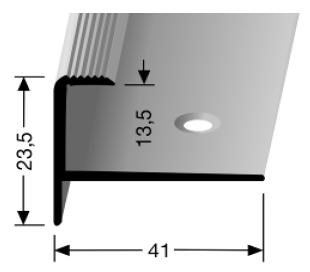Treppenkantenprofil (812) versenkt gebohrt
