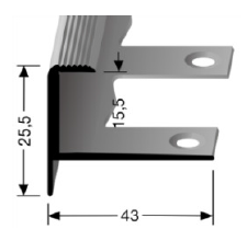 Biegbares Treppenkantenprofil (813EB)