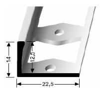 Doppel-K Profil (305G) gestanzt