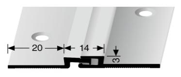 Bewegungsfugenprofil (317SK) selbstklebend
