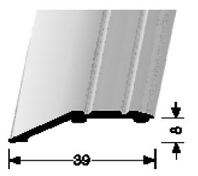 Abschluss-/ Anpassungsprofile (244SK) selbstklebend