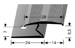 Doppelklemmprofil (382) versenkt gebohrt