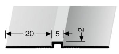 Wand- und Tapetenprofil (170U) ungestanzt