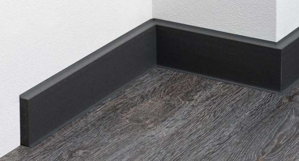 Q 12N Hartschaum-Sockelleiste 60x12 mm, genarbt