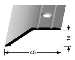 Abschluss-/ Anpassungsprofil (241) versenkt gebohrt