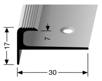 Treppenkantenprofil (808) versenkt gebohrt