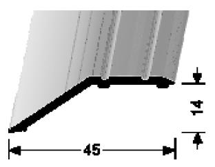 Abschluss-/ Anpassungsprofil (241SK) selbstklebend
