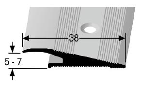 Rampenprofil (265) versenkt gebohrt