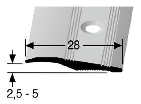 Rampenprofil (264) versenkt gebohrt