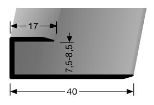 Einschubprofil (200U) ungebohrt