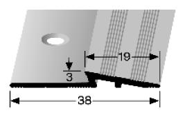 Rampenprofil (330) versenkt gebohrt