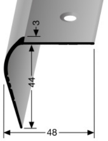 Treppenkantenprofil (865) versenkt gebohrt