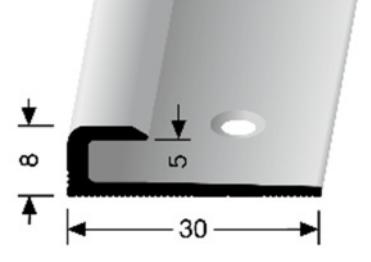 Einschubprofil (802) versenkt gebohrt