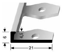 Einfach biegbares Abschlussprofil (302)