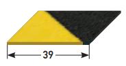 Gleitschutzeinlage selbstklebend, mit grober Körnung, 39 mm