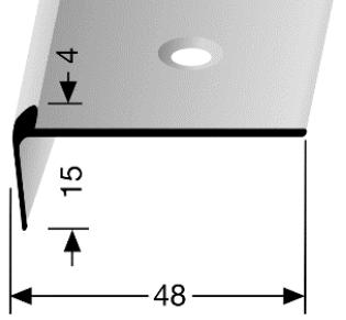 Treppenkantenprofil (861) versenkt gebohrt