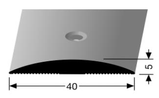 Übergangsprofil (461) versenkt gebohrt