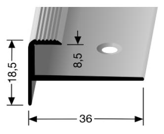 Treppenkantenprofil (810) versenkt gebohrt