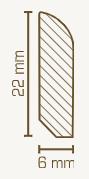 Vorsatzleiste 6 x 22, Diverse Holzarten