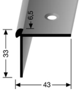 Treppenkantenprofil (874) versenkt gebohrt