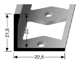 Doppel-K Profil (313G) gestanzt
