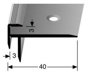 Treppenkantenprofil (826) versenkt gebohrt