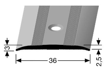 Übergangsprofil (440) versenkt gebohrt