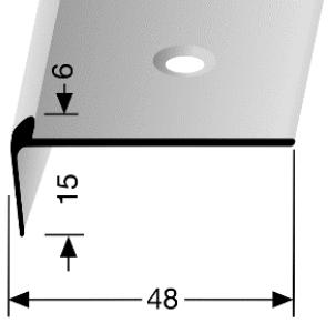 Treppenkantenprofil (864) versenkt gebohrt