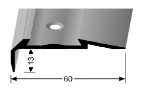 Treppenkantenprofil (700) für PVC-Gleitschutzeinlagen, versenkt gebohrt