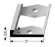Doppel-K Profil (299G) gestanzt