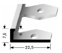 Einfach biegbares Abschlussprofil (307)