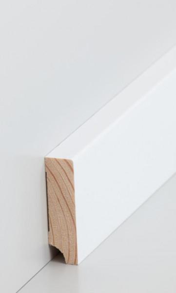 Massivholz-Sockelleiste Kiefer 16mm Stark, rechteckig