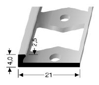 Doppel-K Profil (300G) gestanzt