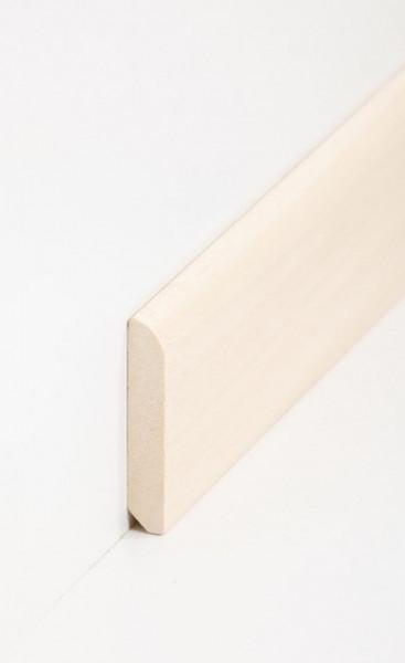 Massivholz-Sockelleiste Abachi 10 x 58 mm, abgerundet