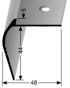 Treppenkantenprofil (866) versenkt gebohrt