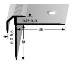 Treppenkantenprofil (835) versenkt gebohrt