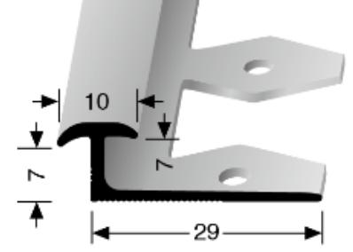 Einfach biegbares Trennprofil (297EB)