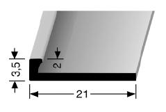 Abschlussprofil (299U) ungestanzt
