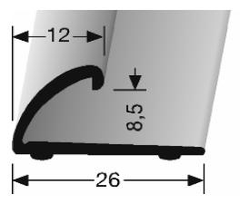 Abschlussprofil (370SK) selbstklebend
